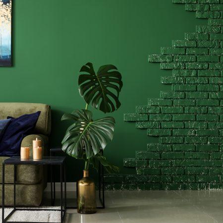 Green Masonry Paint Wall