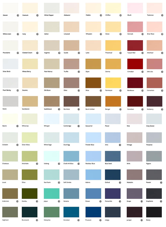 2019 Colour Chart
